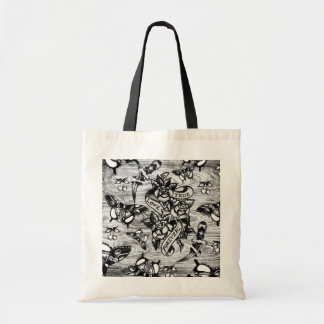 True Love Tattoo art in black and white. Tote Bag