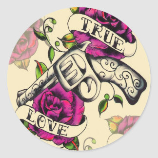 True Love tattoo art style Stickers