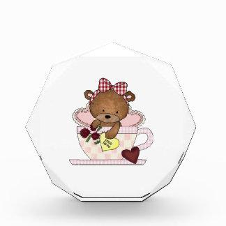 True Love Teddy Bear Acrylic Award