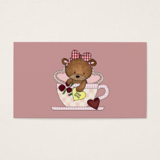 True Love Teddy Bear Business Card