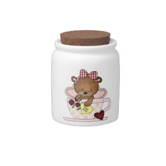 True Love Teddy Bear Candy Dish