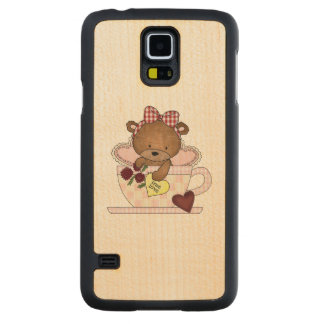 True Love Teddy Bear Carved Maple Galaxy S5 Slim Case