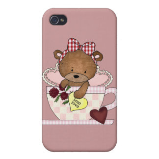 True Love Teddy Bears Case For iPhone 4