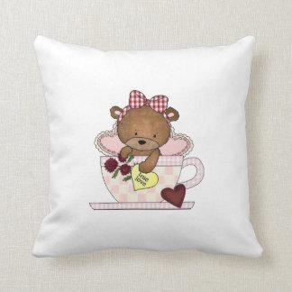 True Love Teddy Bears Throw Pillow