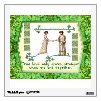 True Love Together Square Wall Decal