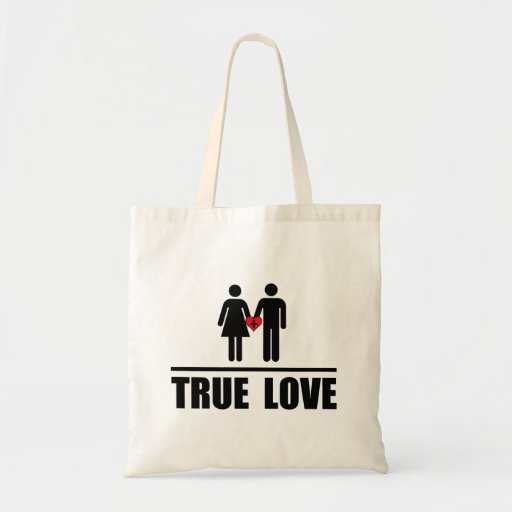 True Love Traditional Marriage Canvas Bag