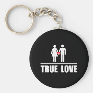 True Love Traditional Marriage Keychain