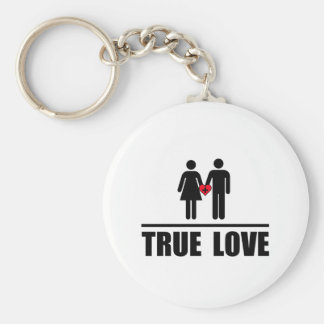 True Love Traditional Marriage Key Chains