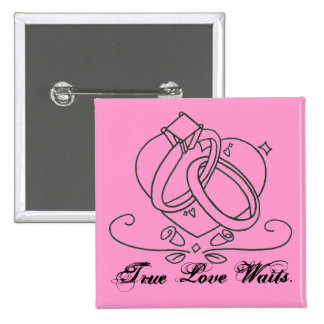 True Love Waits. Pinback Button