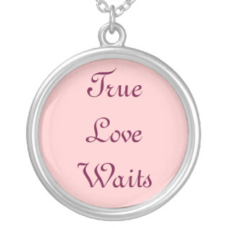 True Love Waits Silver Plated Necklace