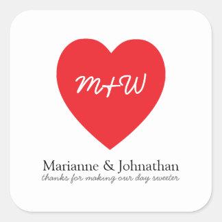 True Love Wedding Party Favor Label RED