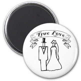 True Love Wedding T-Shirts & Gifts 2 Inch Round Magnet