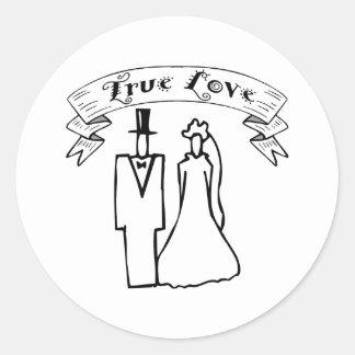 True Love Wedding T-Shirts & Gifts Classic Round Sticker