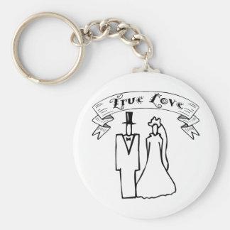 True Love Wedding T-Shirts & Gifts Keychain