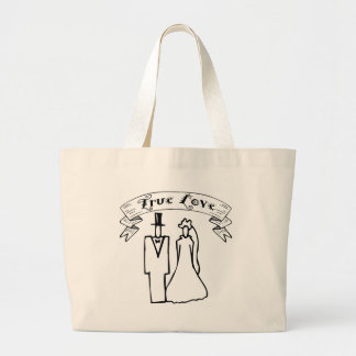 True Love Wedding T-Shirts & Gifts Large Tote Bag