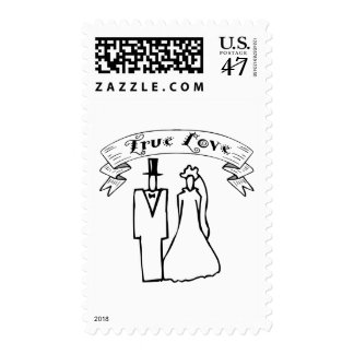 True Love Wedding T-Shirts & Gifts Postage Stamp