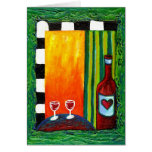 True Love Wine for Two Greeting Card