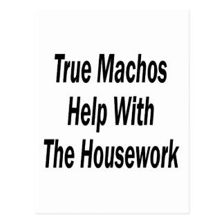 True Machos Help With The Housework Postcard