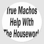 True Machos Help With The Housework Stickers