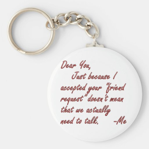 True meaning of friendship key chains
