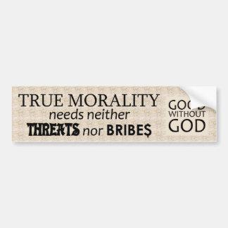 True Morality Car Bumper Sticker