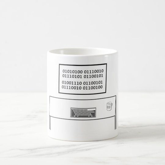 True Nerd in Binary Coded ASCII Coffee Mug