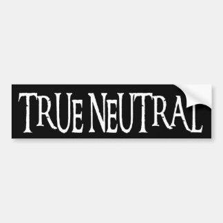 """""""True Neutral"""" Car Bumper Sticker"""