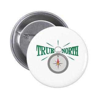 True North 2 Inch Round Button