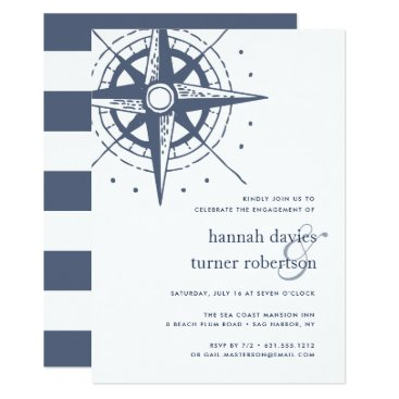 Beach Themed True North | Nautical Engagement Party Invitation