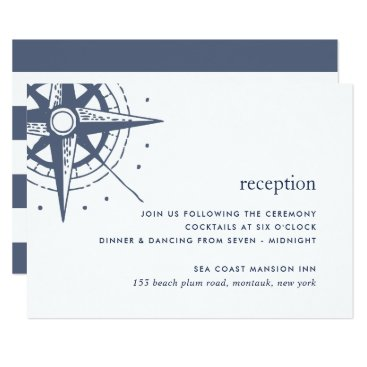 Beach Themed True North Reception Enclosure Card