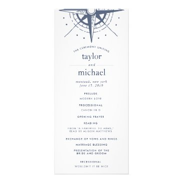 Beach Themed True North Wedding Ceremony Program