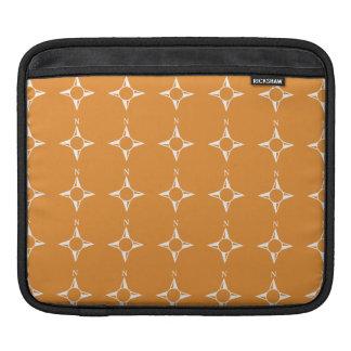True North white orange Sleeves For iPads