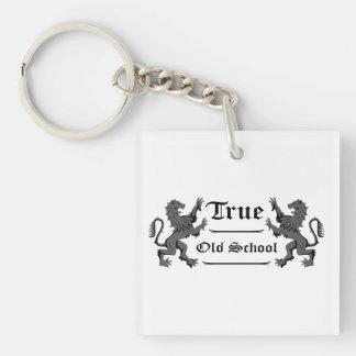 True Old School - Heraldic Lions Keychain