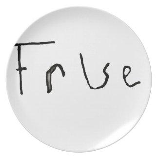 True or False Dinner Plate