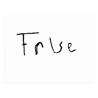 True or False Postcard