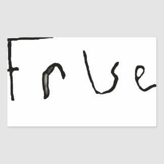 True or False Rectangular Sticker