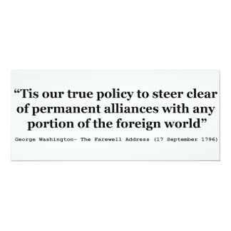 True Policy to Steer Clear of Permanent Alliances Card