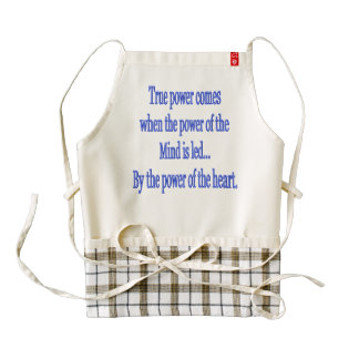 True Power comes when... Zazzle HEART Apron