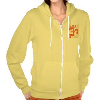 TRUE Saffron Color OM MANTRA Graphic Design Navin Hoodie