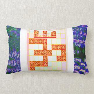TRUE Saffron Color OM MANTRA Graphic Design Navin Throw Pillow