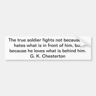 True Soldier Bumper Sticker