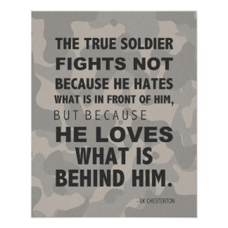 True Soldier Loves Poster, Military, GK Chesterton Poster