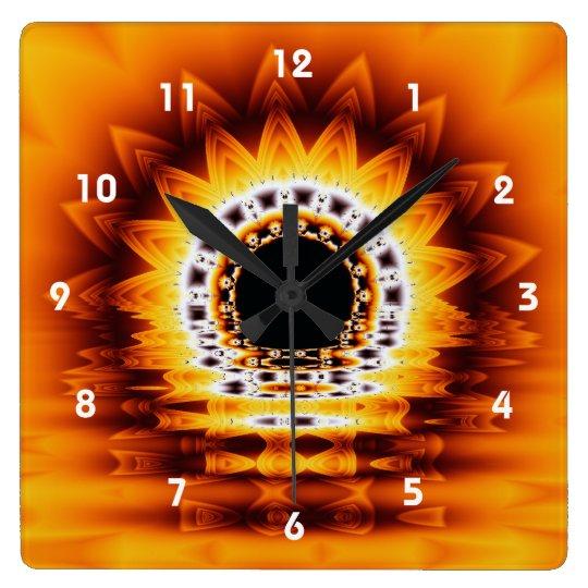 True Sunrise Fantasy Fractal  Wall Clock