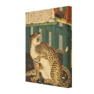 True Tiger Vintage Japanese Art - pre-1900s Canvas Print