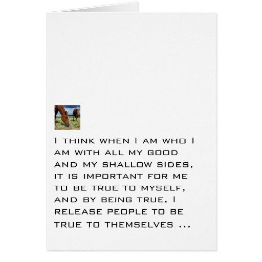 True To Myself Stationery Note Card