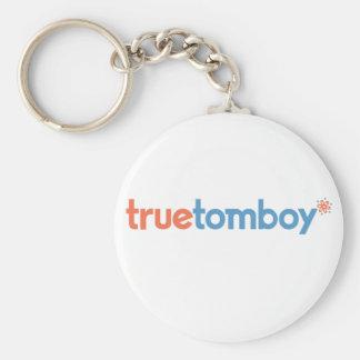 True Tomboy Basic Round Button Keychain
