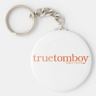 True Tomboy Girls Rule Basic Round Button Keychain
