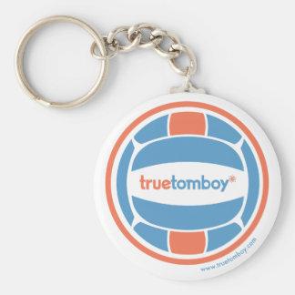 True Tomboy Volleyball Basic Round Button Keychain