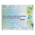 True Words Buddha Quote Poster