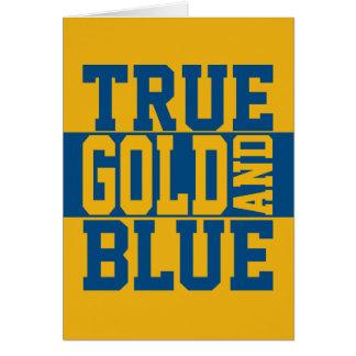 True WVU Gold And Blue Card
